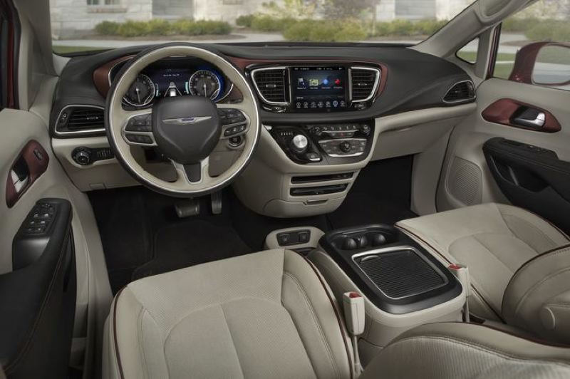 COURTESY FCA - The spacious, well-designed interior of the 2018 Chrysler Pacifica Hybrid.
