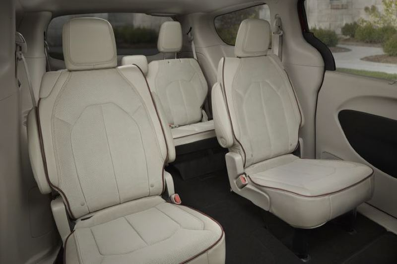 COURTESY CFA - Second and third row passangers ride in comfort in the 2018 Chrysler Pacifica Hybrid.