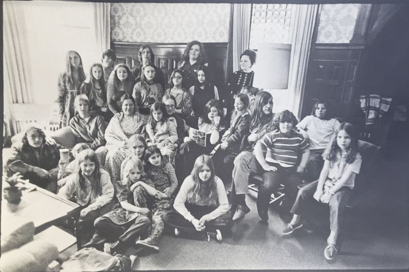 (Image is Clickable Link) COURTESY MLC HISTORY PROJECT - Metropolitan Learning Center students pose for a photo in the late 1960s.