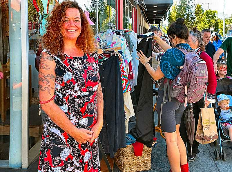 DAVID F.  ASHTON - A charter participant in the annual WCBA Woodstock Gives Back sale and charity event, Erin Beauchamp of Red Fox Vintage helps her customers and raises funds for her chosen charity.