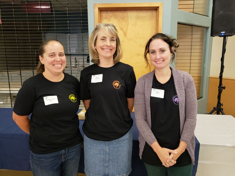PHOTO COURTESY: LESLIE ROBINETTE - Gladstone teachers Kaitlin Gillies, Kris Schuberg and Mara Asmus were recognized as outstanding teachers in the Gladstone District.