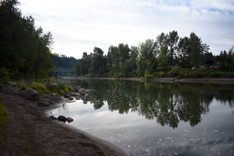 OUTLOOK PHOTO: MATT DEBOW - The Sandy River in Troutdale at Lewis and Clark Park on the morning of Saturday, Sept. 15.