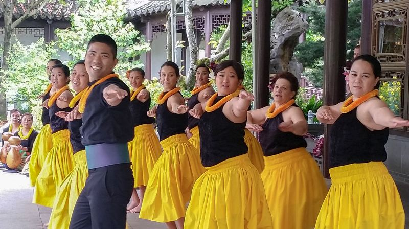 COURTESY: LAN SU CHINESE GARDEN - Featuring such groups as Ka Lei Halia O Ka Lokelani, the Lan Su Chinese Garden puts on the celebratory Autumn Moon Festival, Saturday, Sept. 22.