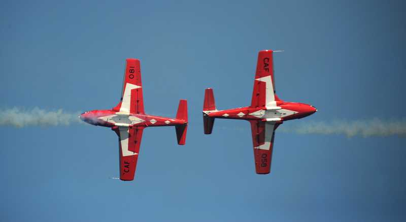 COURTESY PHOTO - The Canadian Snowbirds will headline the Oregon International Air Show, which will soar over Hillsboro Sept. 28-30.