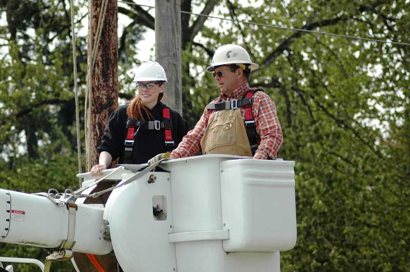 SUBMITTED PHOTO - Clackamas Community College works with nine apprenticeship programs. Shown here is the Line Worker Apprenticeship.
