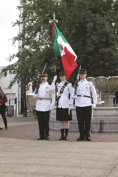 LINDSAY KEEFER - Representatives from the Mexican Consolate conducted the El Grito ceremony recalling the struggle for independence that Father Hidalgo led.