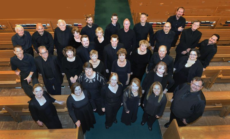 SUBMITTED PHOTO - The 32-voice Chor Anno ensemble is mostly made up of choral directors from four northwest states; the group will present a free concert at 7 p.m. on Sept. 22.