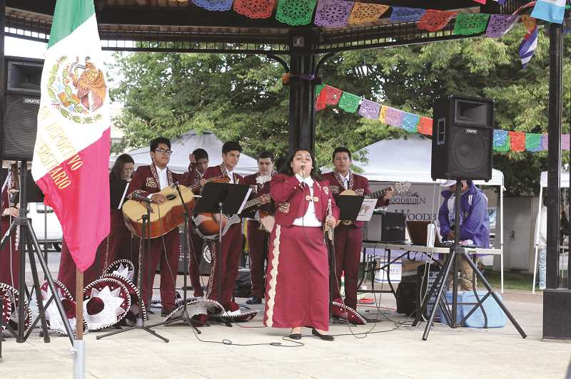LINDSAY KEEFER - The Woodburn High School Mariachi Band was one of many musical acts to participate in the third annual Woodburn Community Celebration.