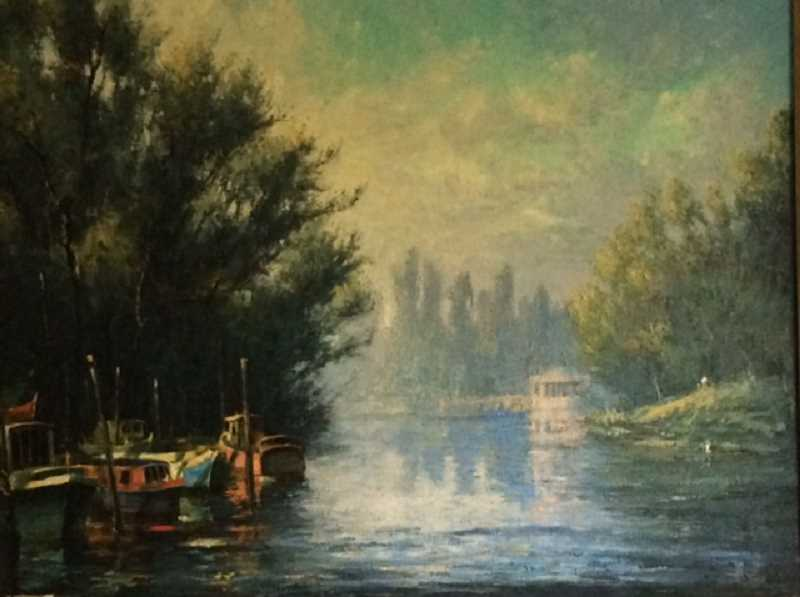 CONTRIBUTED PHOTO - 'Thames River near Richmond' by Leland John will be one of the paintings on display at Clackamas Community College.