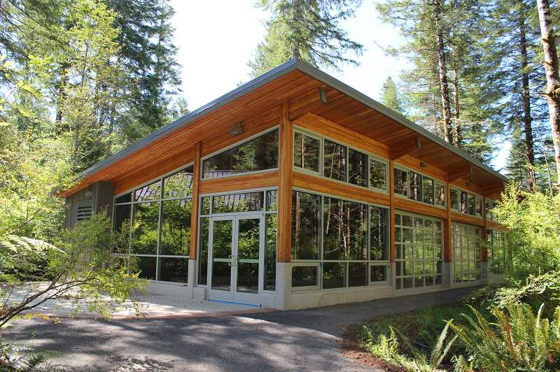 COURTESY PHOTO: TILLAMOOK FOREST CENTER - The new education pavilion for the Tillamook Forest Center will provide space for educational groups to beat the rain.