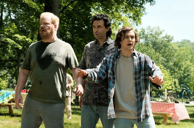 SUBMITTED PHOTO - Jim Gaffigan, Alex Karpovsky and Logan Miller are among the stars of 'You Can Choose Your Family.'