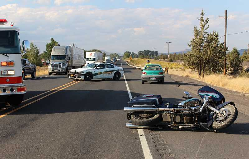 SUBMITTED PHOTO - A motorcyclist died from injuries sustained in a two-vehicle crash just south of Terrebonne.