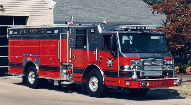 SUBMITTED PHOTO - Engine 212 will be based at the Lake Oswego Fire Department's South Shore Station.