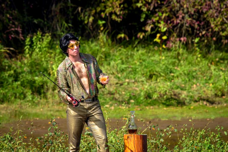 COURTESY PHOTO - Portland entertainer Tony Starlight cast a new phase in his life when he moved to live on a houseboat near Scappoose, but he didn't leave his passion — or wardrobe — behind. He's celebrating 25 years in show biz.