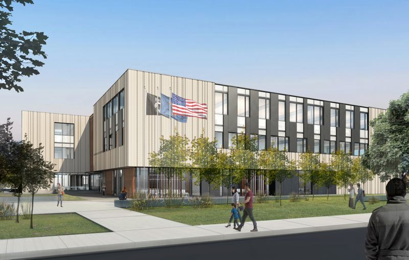 COURTESY: FFA ARCHITECTURE AND INTERIORS - When completed in 2020, the new 74,000-square foot Beaverton Public Safety Center is expected to serve as a catalyst to spark increased investment along Hall Street and Allen Boulevard.