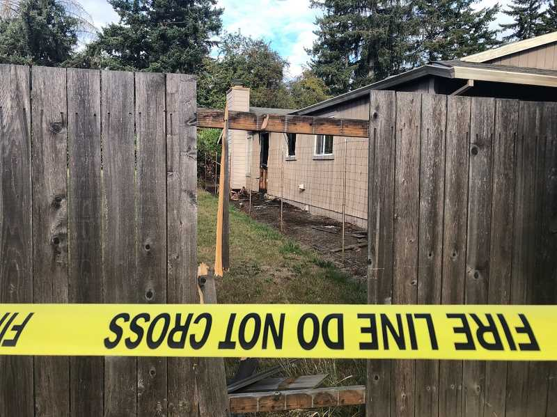 COURTESY OF TVF&R - A woman lost her life in an early morning fire Thursday just outside Tigard city limits.