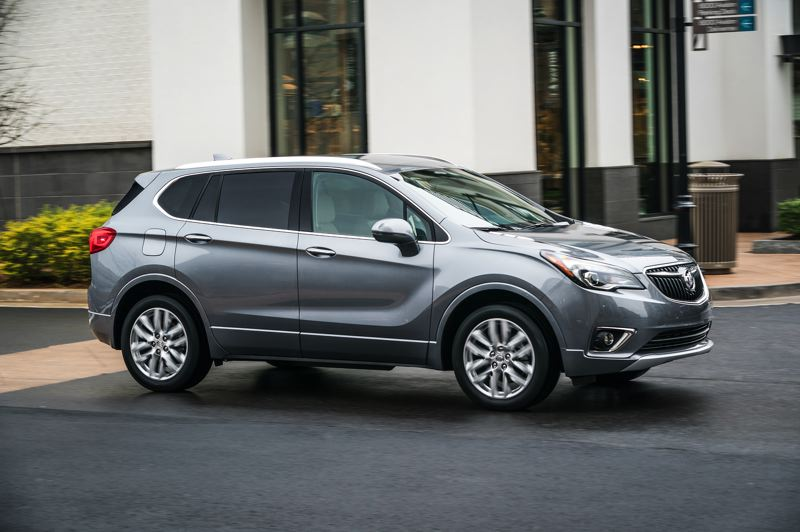COURTESY GENERAL MOTORS - The 2019 Buick Envision is a tastefully styled, comfortable riding compact crossover SUV. It is offered with two engine and transmission choices, and optional all-wheel-drive.