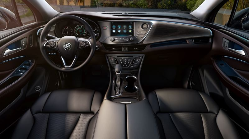 COURTESY GENERAL MOTORS - The interior styling of the 2019 Buick Envision is contemporary but restrained, with practically all available infotainment, luxury and safety features.