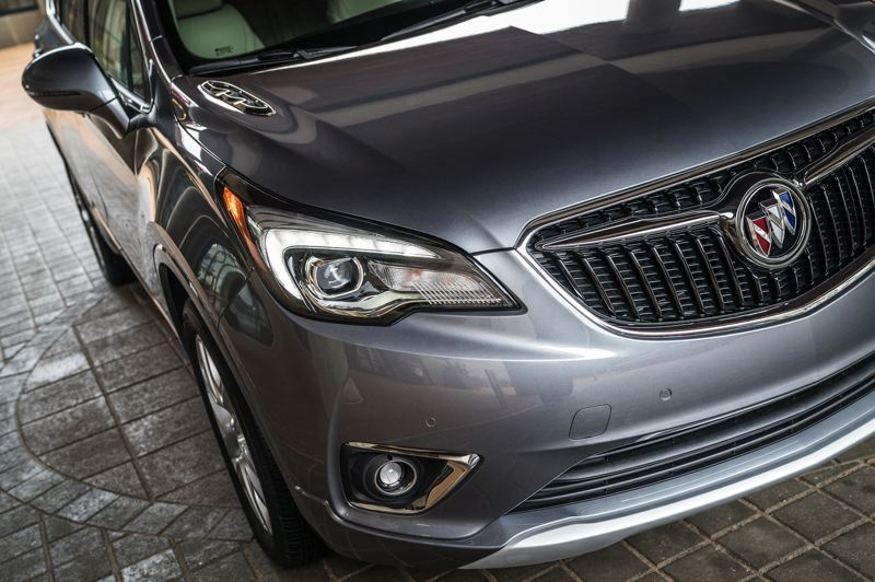 COURTESY GENERAL MOTORS - The front end of the 2019 Buick Envision was restyled for 2019 but is still restrained.