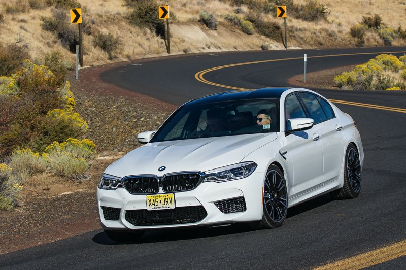 DOUG BERGER/NWAPA - The Northwest Most Fun Sports Sedan is the 2018 BMW M5.