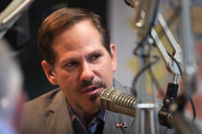 JAIME VALDEZ/PORTLAND TRIBUNE - Oregon State Rep. Knute Buehler, the GOP candidate for governor, speaks during a meeting with the Pamplin editorial board Sept. 20, 2018.