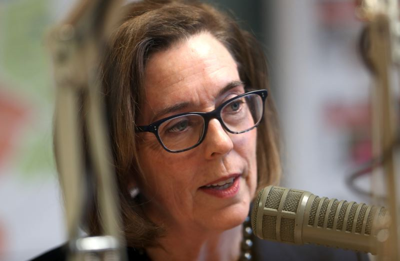 JAIME VALDEZ/PORTLAND TRIBUNE - Gov. Kate Brown speaks to the Pamplin Media editoral board during a meeting Sept. 19, 2018.