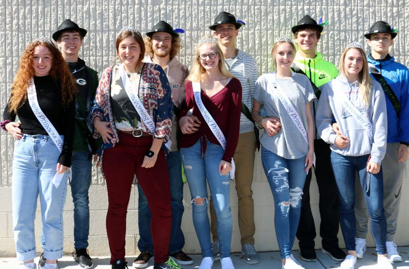 COURTESY PHOTO - This year's homecoming court includes Elizabeth Unger and Max Fox, Morgan Johnson and Blake McDevitt, Sequoia Nelson and Riley Marshall, Amia Gabriel and Jeremy Spidal, and Brooke Jordan and Derek Guerrero.
