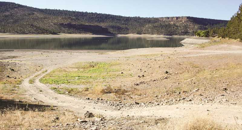 JASON CHANEY - The shore line of Ochoco Reservoir has drastically changed this summer as drought conditions persist.