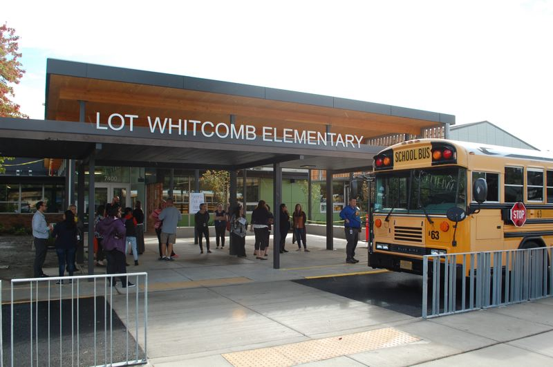 PHOTO BY: RAYMOND RENDLEMAN - Lot Whitcomb has a new look after nearly $15 million in bond funding was earmarked for the 1958 school.