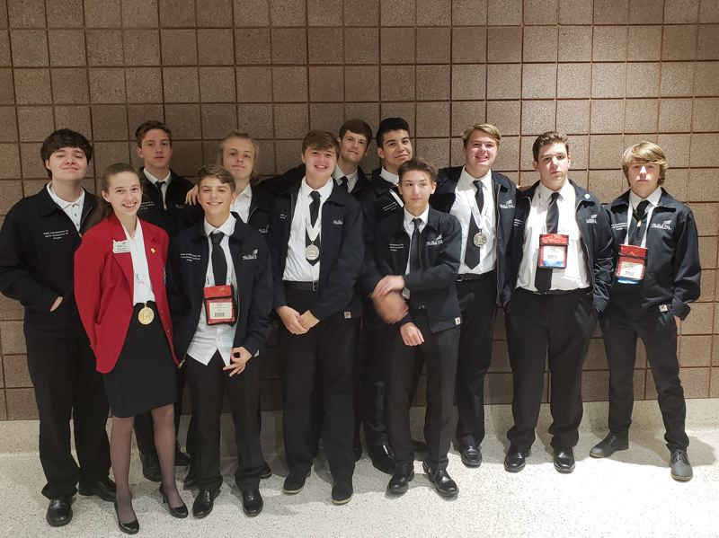 The North Clackamas School District's SkillsUSA national team for 2018.