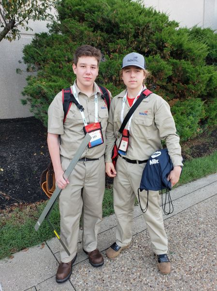 Andrew Tanner and Chris Lynch, both 14-year-old freshmen in North Clackamas, competed in SkillsUSA.