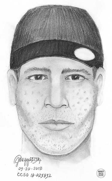 COURTESY PHOTO: CCSO - A sketch of the robbery suspect.