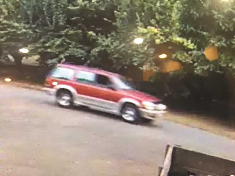 COURTESY PHOTO: CCSO - The suspect is likely driving a 1990s red Ford Explorer with tan trim.
