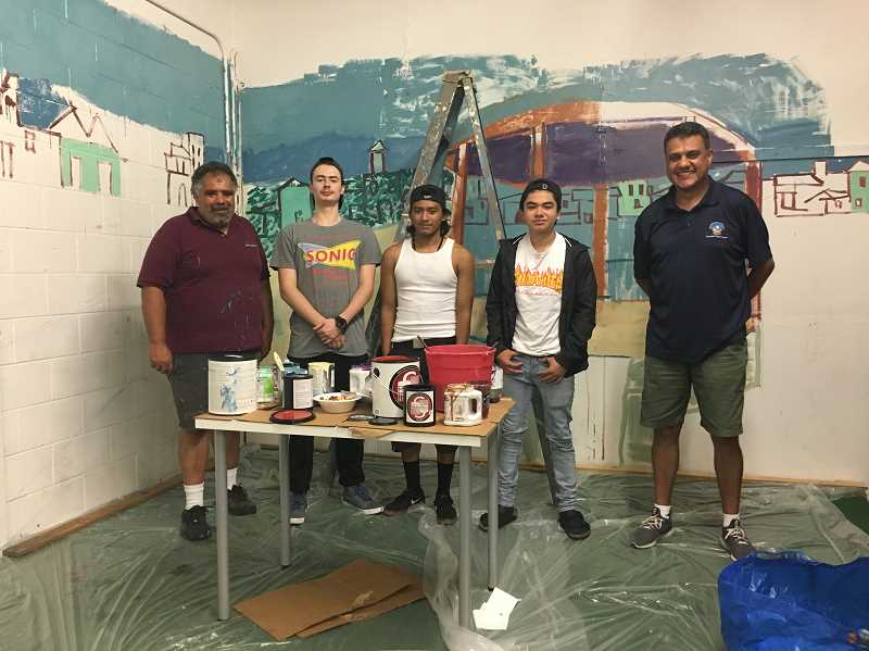 PHOTO COURTESY: WASHINGTON COUNTY JUVENILE DEPARTMENT  - Washington County Juvenile Department developed a mural project for at-risk youth to participate in art education under the guidance of muralist Hampton Rodriguez.