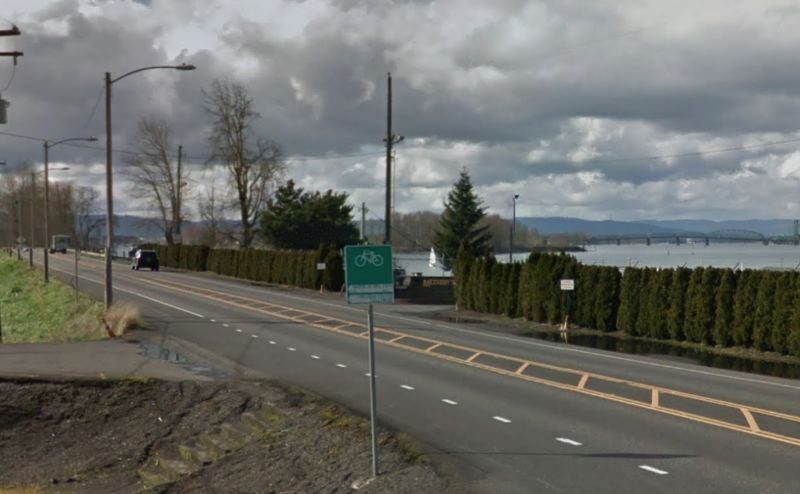 COURTESY GOOGLE MAPS - The Portland Bureau of Transportation will lower the speed limit on Marine Drive from 40 to 35 mph on a two-mile section of Marine Drive.