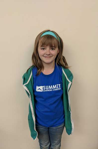 ESTACADA NEWS PHOTO: EMILY LINDSTRAND - Katie Twist is in the fifth grade at Summit Learning Charter.