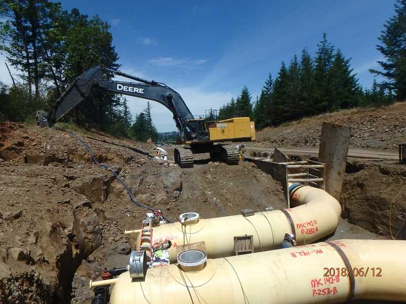 SUBMITTED PHOTO: WILLAMETTE WATER SUPPLY PROGRAM - The Willamette Water Supply Program and various jurisdictions are building a water pipeline from Wilsonville to Hillsboro.