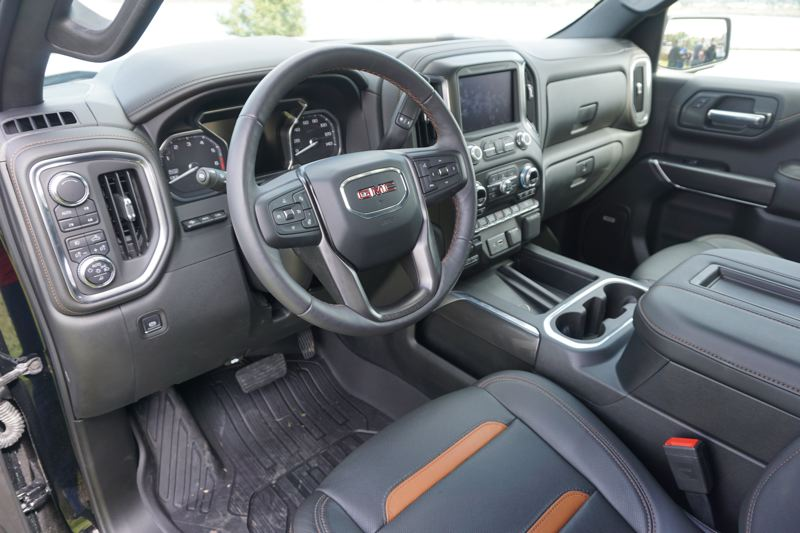 PORTLAND TRIBUNE: JEFF ZURSCHMEIDE - The new Sierra is quiet and comfortable on the road. Luxury features of the Denali trim inlcude the camera-based rear view mirror or the head-up display, plus a lot more.