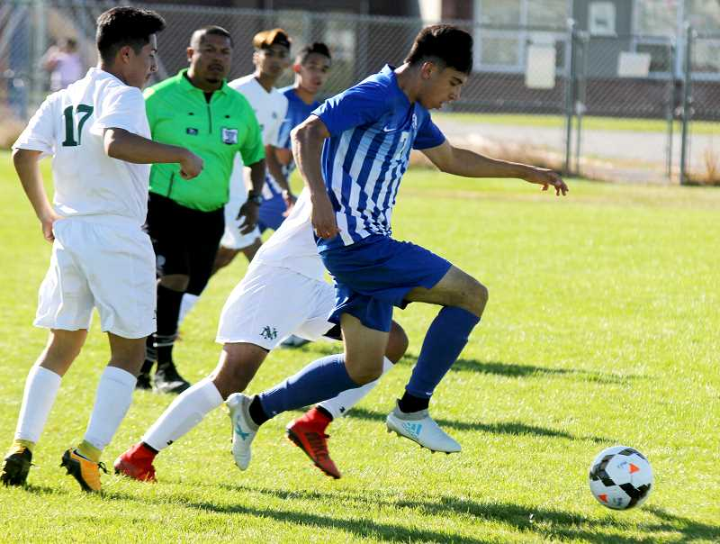STEELE HAUGEN - Melchor Olivera made a free kick late in the game to tie North Marion 2-2.