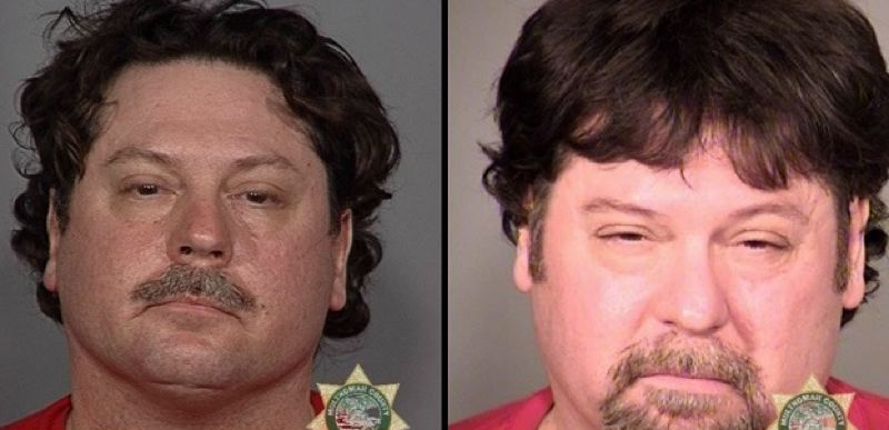 MULTNOMAH COUNTY SHERIFF'S OFFICE - Timothy Mackley in  2009, left, and in 2014.