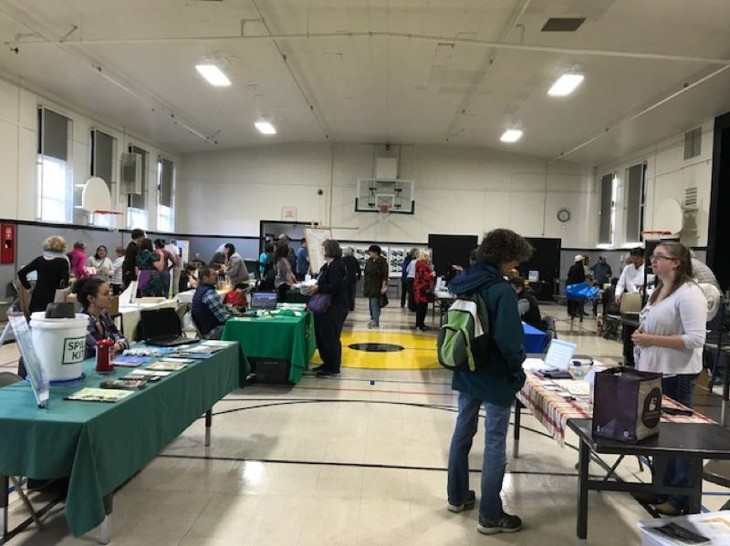 COURTESY HEATHER WAISANEN - Visitors check out booths at last year's sustainability fair in Garden Home.
