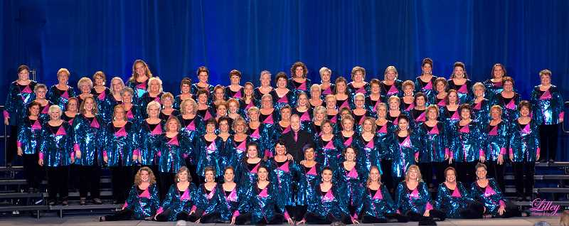 SUBMITTED PHOTO - The Pride of Portland Chorus, a Sweet Adeline International chorus is preparing for competition in St. Louis. Hear their program Oct. 6 in Canby. Get tickets now.