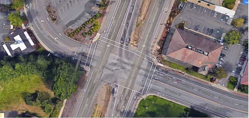COURTESY CITY OF TIGARD - An overhead shot at Highway 99W at Durham Road shows how photo red light cameras would be situated.