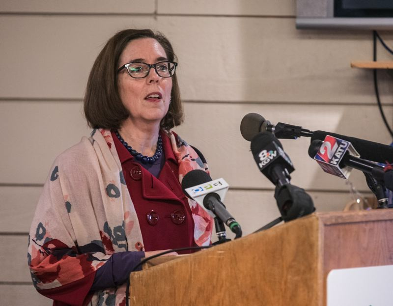 COURTESY PHOTO - Gov. Kate Brown thinks the U.S. Senate should delay a vote on a Supreme Court nomination until an FBI investigation clears up doubts about sexual assault allegations.
