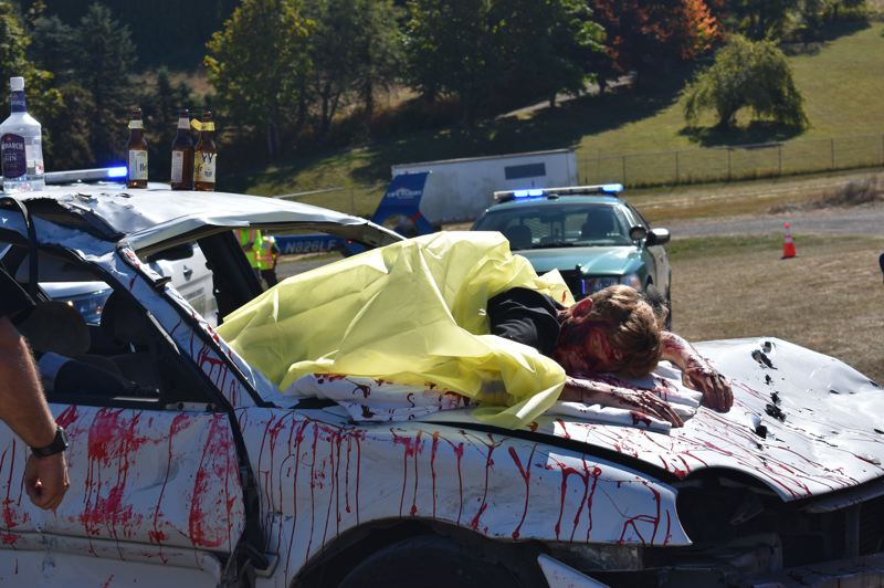 pamplin media group staged car crash drives home importance of