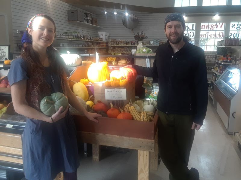 OUTLOOK PHOTO: SHANNON O. WELLS - Rosalie and Roy Crowe, who opened Local Grocer this past summer, plan to share with the community their unique offerings with a pop-up food festival on Sunday.