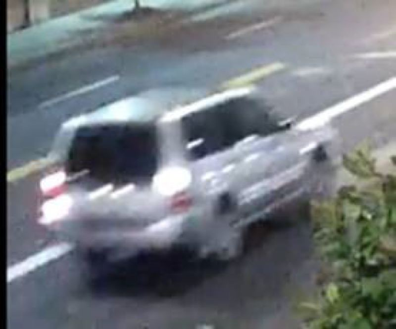 POLICE PHOTO - This silver Honda Pilot has been linked to a fatal hit-and-run.