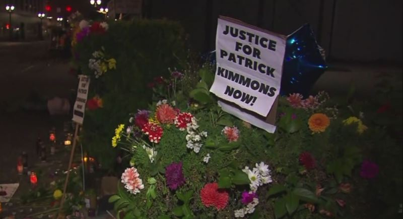 (Image is Clickable Link) IMAGE VIA KOIN 6 NEWS - A memorial for Patrick Kimmons was created by activists on Sunday, Sept. 30.