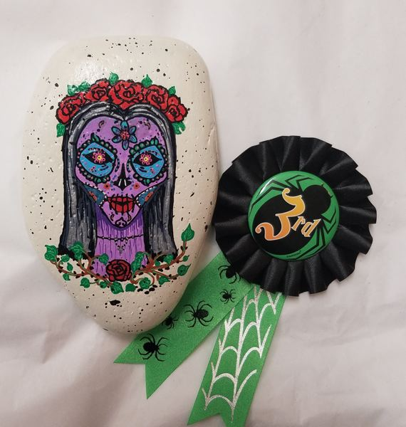 One of last year's painted-rock contest winners.