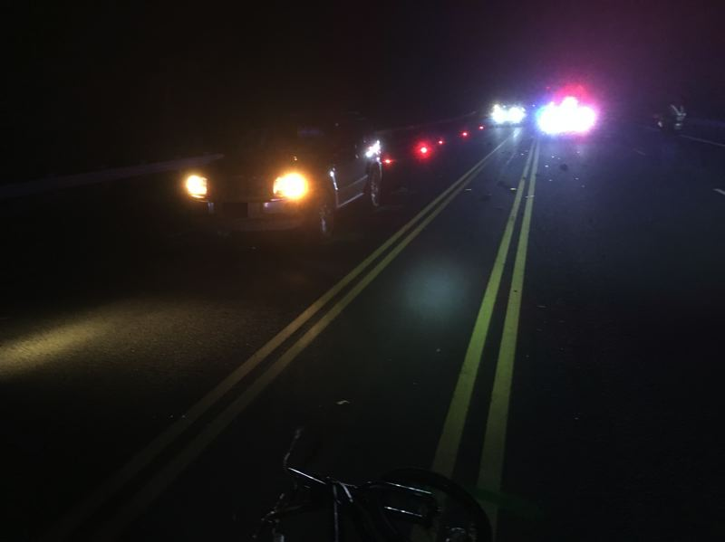 COURTESY PHOTO: WASHINGTON COUNTY SHERIFF'S OFFICE - Investigators looking into a Monday night crash outside Cornelius believe that the bicyclist struck was riding without lights or a helmet and was traveling in the middle of Tualatin Valley Highway.